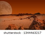 Red Planet With Arid Landscape...