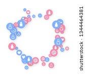 social media marketing ... | Shutterstock .eps vector #1344464381