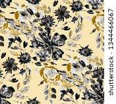 watercolor seamless pattern... | Shutterstock . vector #1344466067