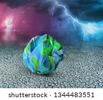 earth ecology and recycle... | Shutterstock . vector #1344483551