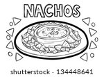 appetizer,artwork,black and white,bowl,cartoon,cheese,chips,corn,cute,design,dinner,doodle,eating,fast,fat