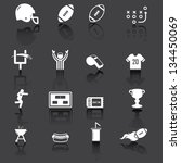 american football icons  white... | Shutterstock .eps vector #134450069