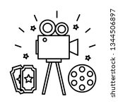 film set objects icon   Shutterstock .eps vector #1344506897