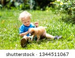 kids play with cute little... | Shutterstock . vector #1344511067