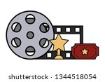 film set objects icon   Shutterstock .eps vector #1344518054