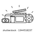 film set objects icon   Shutterstock .eps vector #1344518237