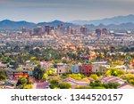 phoenix  arizona  usa downtown... | Shutterstock . vector #1344520157