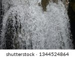 isolated waterfall in tropics | Shutterstock . vector #1344524864