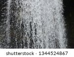 isolated waterfall in tropics | Shutterstock . vector #1344524867