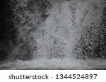 isolated waterfall in tropics | Shutterstock . vector #1344524897