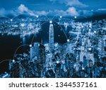 digital network connection... | Shutterstock . vector #1344537161