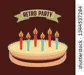 retro party  vector | Shutterstock .eps vector #1344537284