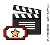 film set objects icon   Shutterstock .eps vector #1344539417
