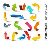 arrows set. colorful vector...   Shutterstock .eps vector #1344547664