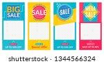 insta stories sale banner... | Shutterstock .eps vector #1344566324