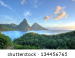 Panorama Of Pitons At Saint...