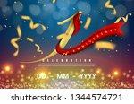 1 years anniversary logo... | Shutterstock .eps vector #1344574721