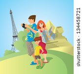 family on a vacation | Shutterstock .eps vector #134458721
