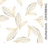 seamless pattern with golden...   Shutterstock .eps vector #1344588461