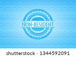 non resident light blue water... | Shutterstock .eps vector #1344592091
