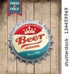 illustration of vintage beer... | Shutterstock .eps vector #134459969