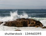 Waves Crashing Over Portuguese...