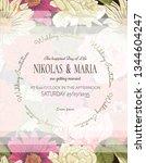 elegant wedding invitation... | Shutterstock .eps vector #1344604247