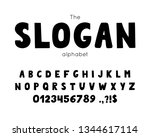 vector font and alphabet. set... | Shutterstock .eps vector #1344617114