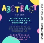 vector font and alphabet. set... | Shutterstock .eps vector #1344617141