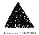 sketch scribble smear triangle. ... | Shutterstock .eps vector #1344620864