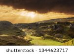 fairy glen at isle of skye ... | Shutterstock . vector #1344623717