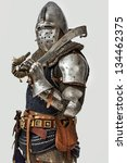 image of knight who is posing... | Shutterstock . vector #134462375