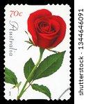 australia   circa 2014  a stamp ... | Shutterstock . vector #1344646091