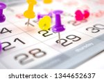 pin on calendar on last date of ... | Shutterstock . vector #1344652637