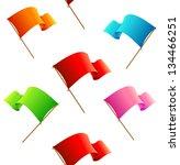seamless pattern vector flags | Shutterstock .eps vector #134466251