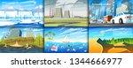 environmental pollution. set of ...   Shutterstock .eps vector #1344666977