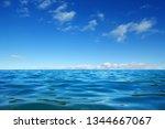 blue sea water surface on sky   Shutterstock . vector #1344667067