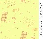 modern memphis pattern.... | Shutterstock .eps vector #1344672197