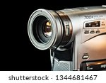 part of old vhs video camera... | Shutterstock . vector #1344681467