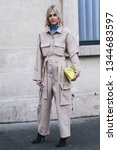 Small photo of Paris, France - March 01, 2019: Street style outfit - Linda Tol before a fashion show during Paris Fashion Week - PFWFW19