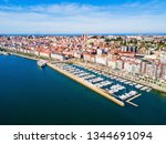 santander city aerial panoramic ... | Shutterstock . vector #1344691094