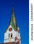 church spire roof in...   Shutterstock . vector #1344693497