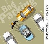 bad parking. illustration... | Shutterstock .eps vector #134471579