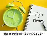 time is money concept with...   Shutterstock . vector #1344715817