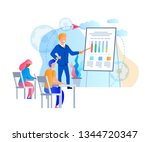 young people sitting at desk... | Shutterstock .eps vector #1344720347