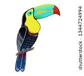 beautiful tropical exotic bird. ...   Shutterstock .eps vector #1344724994