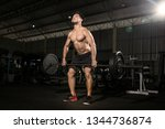 handsome strong athletic men... | Shutterstock . vector #1344736874