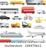 transport big detailed vector... | Shutterstock .eps vector #134475611