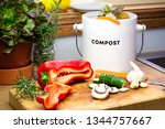 food waste recycle  real... | Shutterstock . vector #1344757667