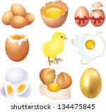 eggs photo realistic vector set | Shutterstock .eps vector #134475845